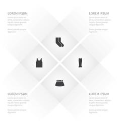 Icon garment set of fashionable sleeveless tank vector