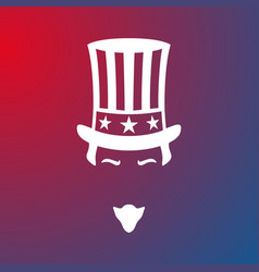 icon of uncle sam national holiday in united vector image