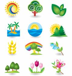 icons nature vector image
