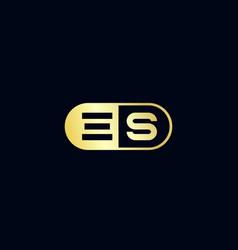 Initial letter es logo template design vector