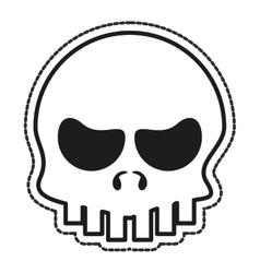 Isolated skull cartoon design vector