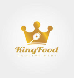King food logo design food icon vector