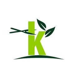 Letter k lawn vector
