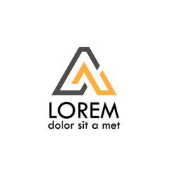 line letter a logo vector image