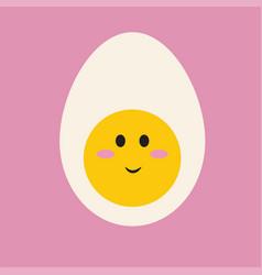 little cute egg on white background vector image