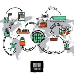Logistic Sketch Concept vector