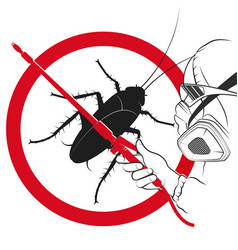 Man in uniform insect control vector