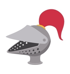 Medieval helmet cartoon icon vector
