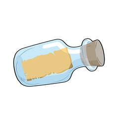 Message in bottle is empty Glass transparent vector image