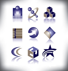 nine symbols to choose from vector image