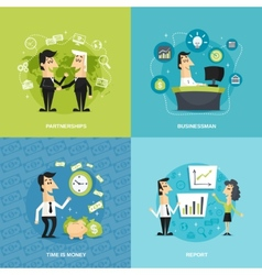 Office workers flat vector image vector image