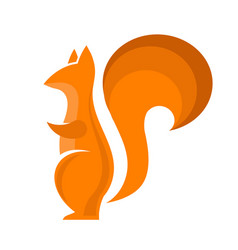 Orange squirrel icon isolared vector