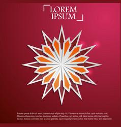 paper graphic of islamic geometric art vector image