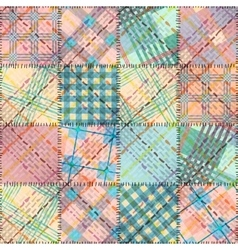 Patchwork in geometric style vector