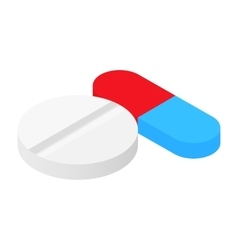 Pills isometric 3d icon vector
