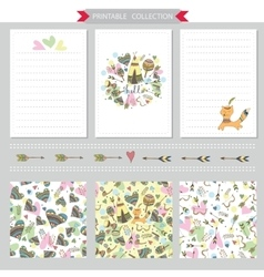 Printable notepad design cover and vector