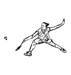Professional badminton player vector