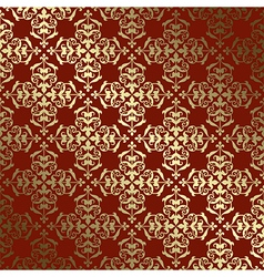 Red and gold background with gradient - vintage vector