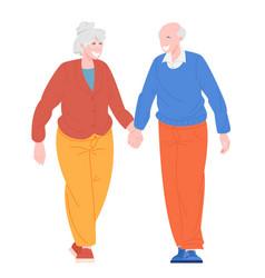 romantic couples retiree vector image