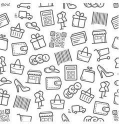 sale and shopping seamless pattern background vector image