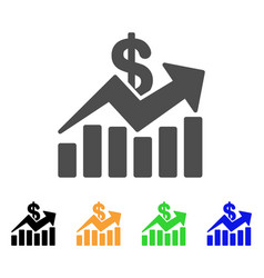 sales bar chart trend icon vector image