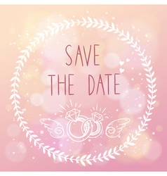 Save the date elegant wedding card vector