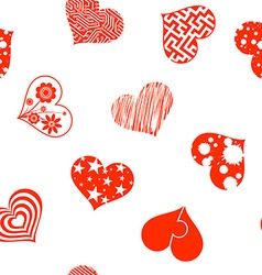 set hearts stock vector image