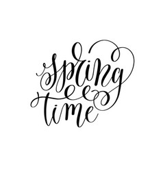 spring black and white hand written lettering vector image vector image