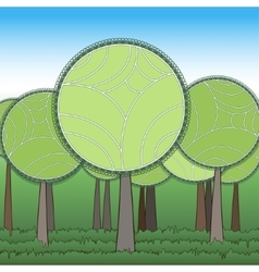 Stylization green forest vector