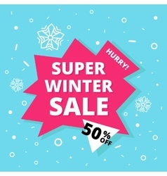 Super winter sale banner vector