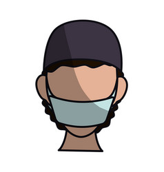 Surgeon doctor profile avatar vector
