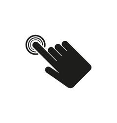 The hand click icon Cursor symbol Flat vector image
