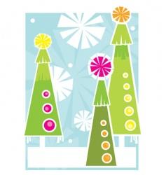 three holiday trees vector image