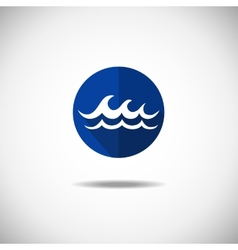 Wave icon vector image