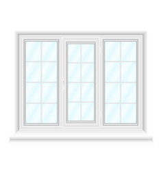white triple window with blue glasses vector image