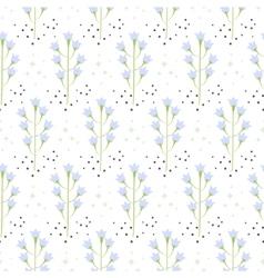 Wild bluebell flower spring field seamless pattern vector