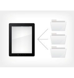 document concept tablet pc vector image vector image