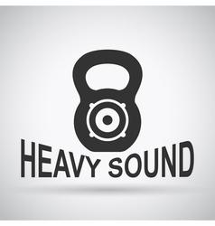 heavy sound vector image vector image