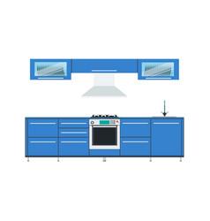 kitchen design interior modern food menu vector image vector image