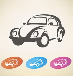 old retro car symbol vector image vector image
