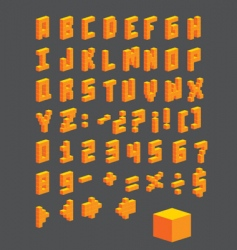 vector Abc boxes vector image vector image