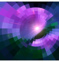 Violet abstract circle tiled background vector image vector image