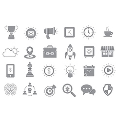 Web gray icons set vector
