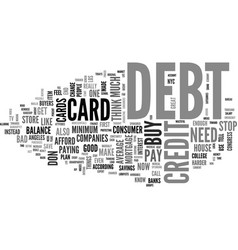 what you need to know about debt and credit cards vector image