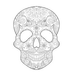 Zentangle stylized Skull for Halloween Freehand vector image vector image