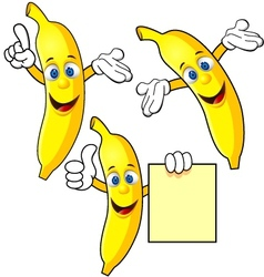 banana cartoon character vector image