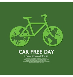 Car Free Day vector image vector image