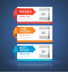 Colorful origami style options banner vector