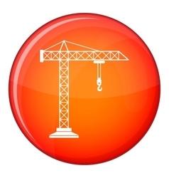 Construction crane icon flat style vector image