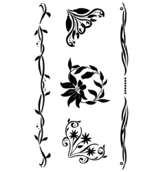 corner renaissance style set vector image vector image